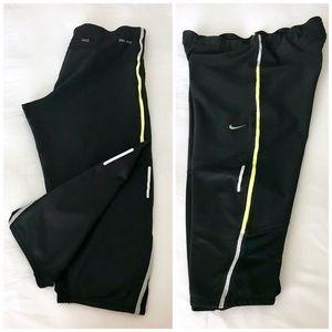 Nike Running Crop Leggings Black Size Medium